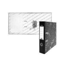 Папка-регистратор inФОРМАТ А4 мрамор картон 75мм собранный