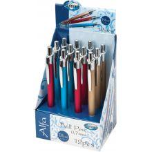 Ручка шариковая-автомат  ALFA синие чернила 0.7мм