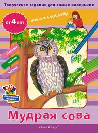 Творческие работы для самых маленьких. Мудрая сова. (от 4-х лет) - фото 1