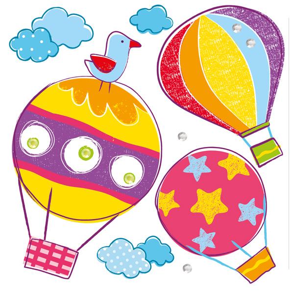 """Объемные наклейки """"Воздушные шары"""", 6 шт."""