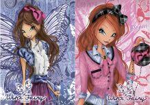 Записная книжка 48л скр А6 кл WX28/2-EAC твин УФ Winx Fairy Couture