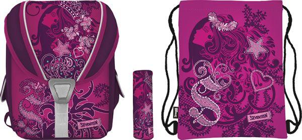 SKCB-UT1-136-SET31 Набор школьницы.Рюкзак эргономичный. Пенал для канцелярских принадлежностей. Сумка-рюкзак для обуви. Состав набора: SKCB-UT1-136 SK