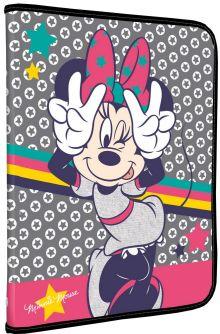 MMCB-US1-CPBFL Папка для тетрадей. Молния с 3-х сторон. Толщина пластика: 0,5мм. Печать: CMYK 4+0 Размер 24 x 18,5 x 2,5 см Упак. 40 шт.Minnie Mouse