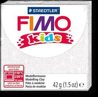 FIMO kids полимер. глина д/детей (блестящий белый) уп. 42 гр.