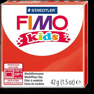 FIMO kids полимер. глина д/детей (красный) уп. 42 гр.