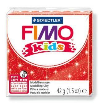 FIMO kids полимер. глина д/детей (блестящий красный) уп. 42 гр.
