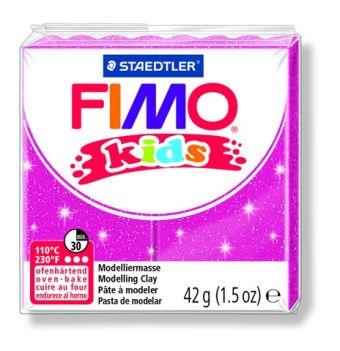 FIMO kids полимер. глина д/детей (блестящий розовый) уп. 42 гр.