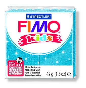 FIMO kids полимер. глина д/детей (блестящий синий) уп. 42 гр.