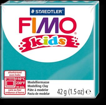 FIMO kids полимер. глина д/детей (бирюзовый) уп. 42 гр.