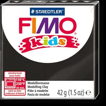 FIMO kids полимер. глина д/детей (черный) уп. 42 гр.