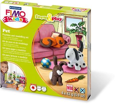 """FIMO kids form&play детский набор """"Домашний любимец"""" набор fimo формы для литья младенец"""
