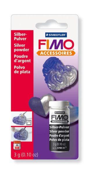 FIMO серебряная пудра, 3 гр.