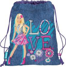 Сумка-рюкзак для обуви. Выполнена из прочного материала. Размер 43 х 34 х 1 см, Упак. 12/24/96 шт.Barbie