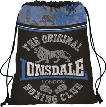 Сумка-рюкзак для обуви. Выполнена из прочного материала. Размер 43 х 34 х 1 см, Упак. 12/24/96 шт.Lonsdale