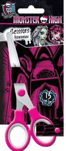 Ножницы 15 см, 1 шт. Гравировка логотипа на лезвиях. Упаковка -блистер, 500 г/м2, 4+1, европодвес. Размер 18 х 8 х 1 см Упак. 12/240 шт.Monster High