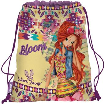 Сумка-рюкзак для обуви. Выполнена из прочного материала. Размер 43 х 34 х 1 см, Упак. 12/24/96 шт.Winx Fairy Couture