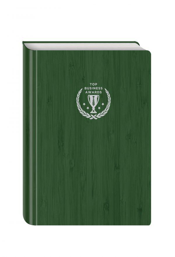 Блокнот Top Business Awards - линованный (зеленое дерево, желтые страницы)