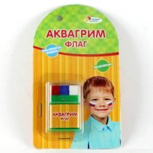 "АКВАГРИМ МЕЛКИ ""MULTIART"" 3 ЦВЕТА ""ФЛАГ"" НА КАРТ. в кор.3*48шт"