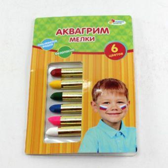 "АКВАГРИМ МЕЛКИ ""MULTIART"" 6 ЦВЕТОВ В ПЛАСТ. в кор.6*24шт"
