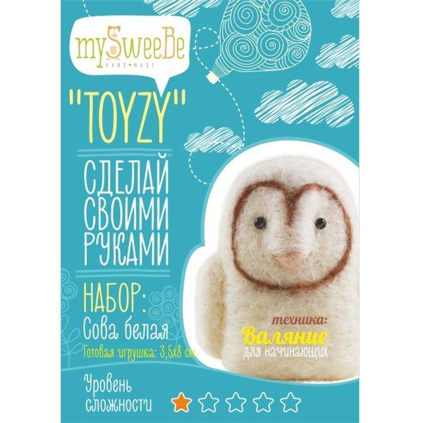 """Набор TOYZY """"Сова белая"""" начальный - техника валяние"""