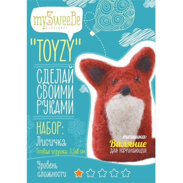 Набор TOYZY Лисичка начальный - техника валяние toyzy набор для валяния toyzy лисичка