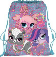 Сумка-рюкзак для обуви. Выполнена из прочного материала. Размер 43 х 34 х 1 см, Упак. 12/24/96 шт.Littlest Pet Shop