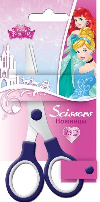 Ножницы 13 см, 1 шт. Гравировка логотипа на лезвиях. Упаковка -блистер, 500 г/м2, 4+1, европодвес. Размер 16 х 8 х 1 см Упак. 12/240 шт.Princess