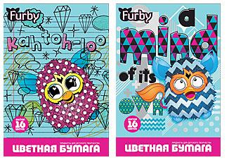 Бум цв д/дет тв 16цв 16л(2 мет) Папка 200*290 FB33/2-EAC Furby