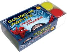 Краски гуашевые 6 цв. Объем краски одного цвета 10 мл. Размер 6,5 х 10 х 3 см Упак. 24 шт.Spider-man Classic