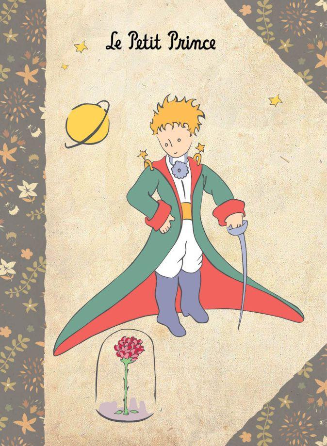 Сент-Экзюпери А. - Блокнот Маленький принц. Цветная бумага. Крафт 1 обложка книги