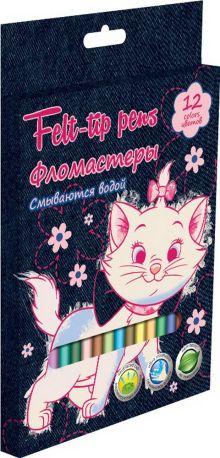 Набор цветных фломастеров, 12 шт Размер одного фломастера - 14х0,8 см, (с колпачком). Колпачок - вентилируемый, в цвет наконечника, непрозрачный. На к