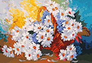 Живопись на холсте 40*50 см. Корзинка с ромашками (088-AB) наборы для рисования белоснежка живопись на холсте 40х50 см 139 ab на воле