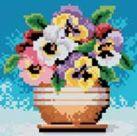 Набор для хобби и творчества Стразы на подрамнике. Цветы в горшочке (018-RS-R)