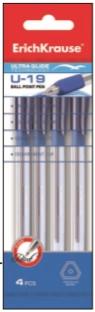 Набор 4 ручки шариковые Ultra Glide Technology U-19 (Синий)