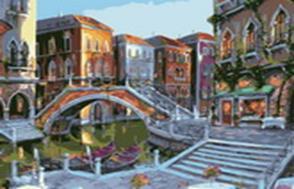 Живопись на цв. холсте 40*50. Городской пейзаж (625-AB-C)
