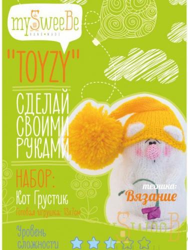 Набор TOYZY Кот Грустик - техника вязание набор для вязания toyzy кот грустик tz k001