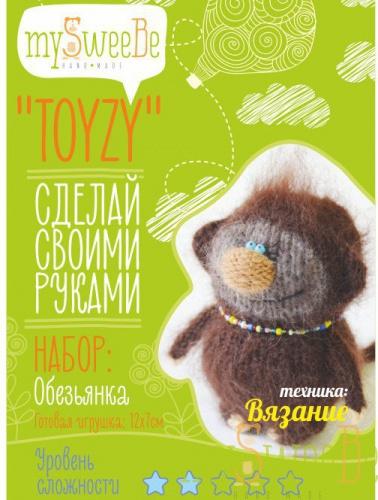 Набор TOYZY Обезьянка - техника вязание набор для творчества toyzy техника валяние начальный уровень сова белая