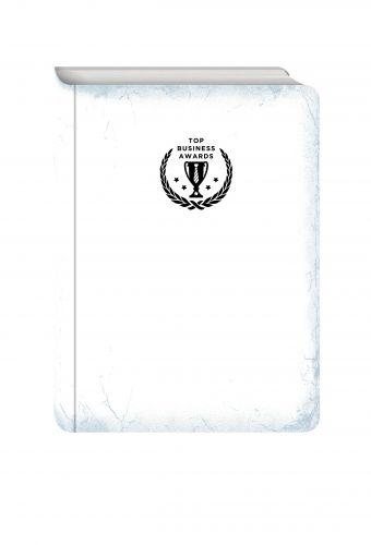 Блокнот Top Business Awards - линованный (белое серебро, желтые страницы)