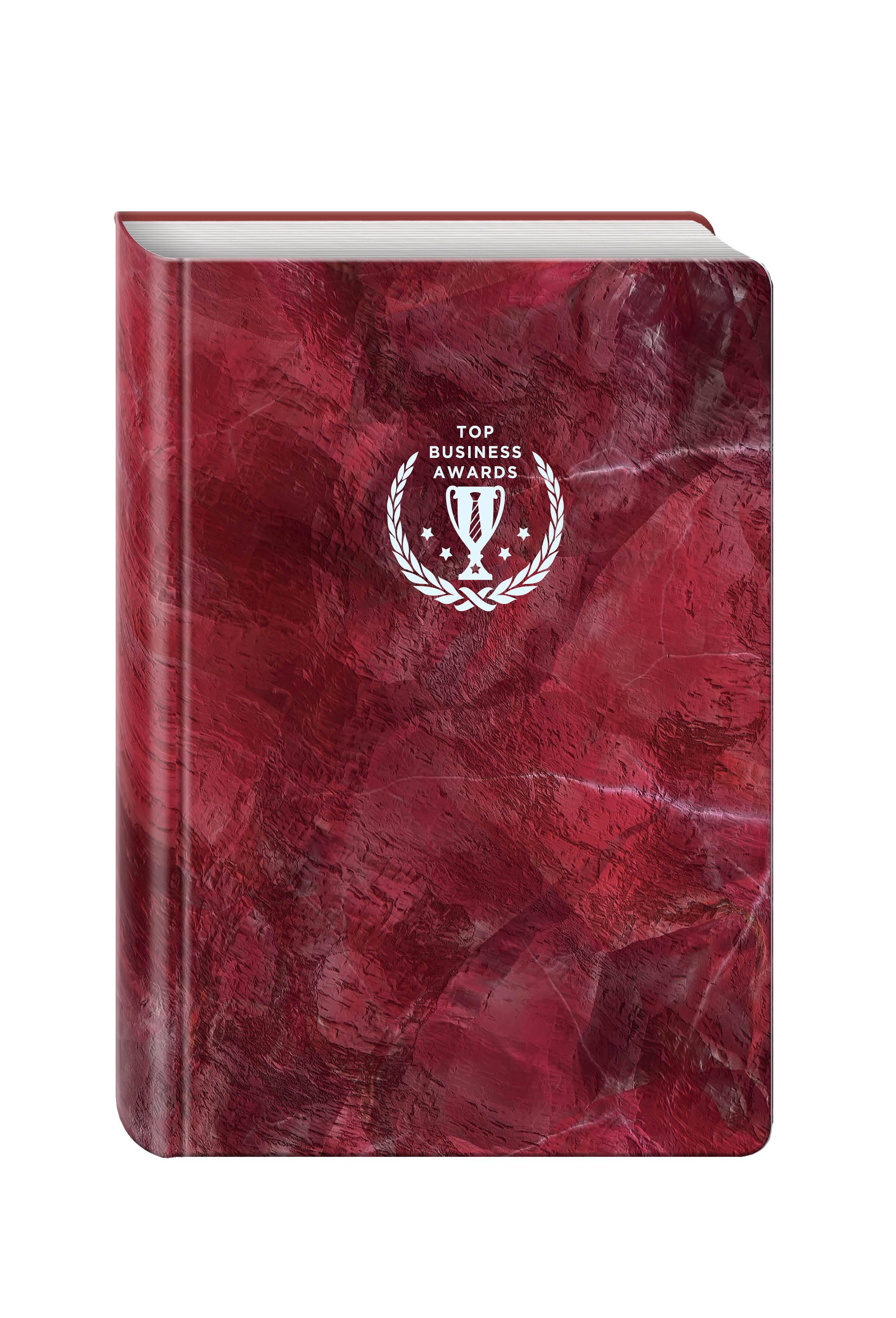 Блокнот Top Business Awards - линованный (красный мрамор, желтые страницы) блокнот не трогай мой блокнот а5 144 стр