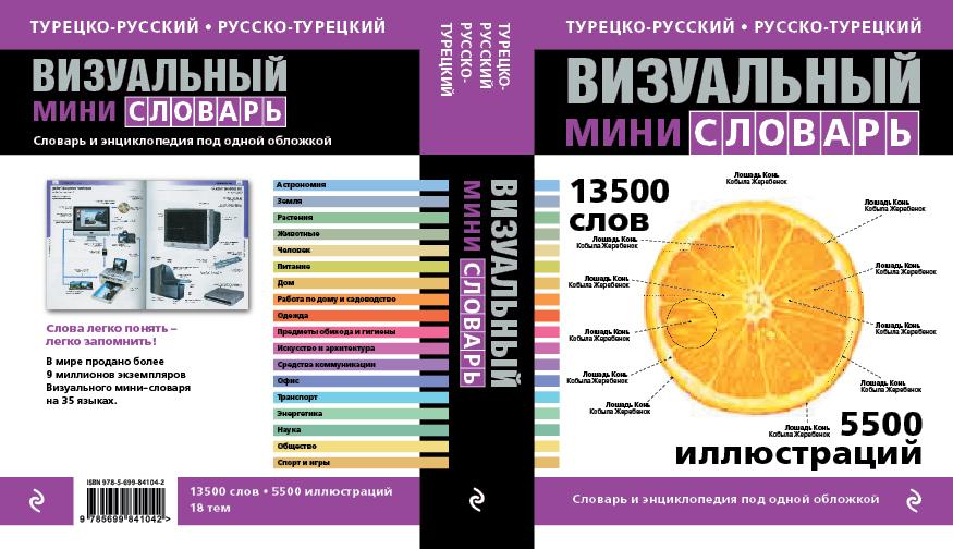 Турецко-русский русско-турецкий визуальный мини-словарь