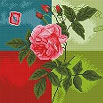 Мозаика на подрамнике. Нежная роза (288-ST-R)