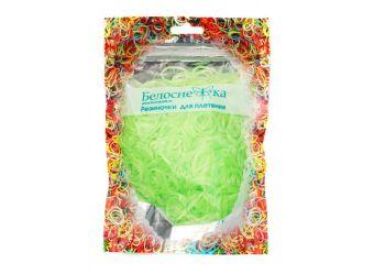 Наборы для плетения. Резиночки (1000 шт) неоновые светло-зеленый (274-RB)