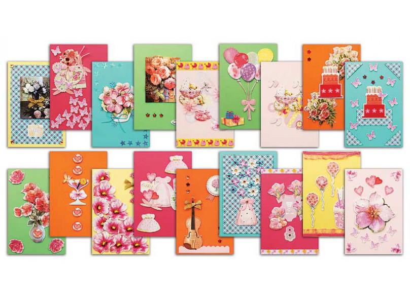 Наборы для скрапбукинга. Набор для создания 18-ти открыток Очарование (335-SB) белоснежка наборы для скрапбукинга набор бумаги зеленое лето 20 3см 20 3см 002 sb