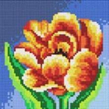 Стразы на подрамнике. Махровый тюльпан (016-RS-R)