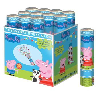 Хлопушка Peppa Pig 30 см_наполнение форма Пеппа
