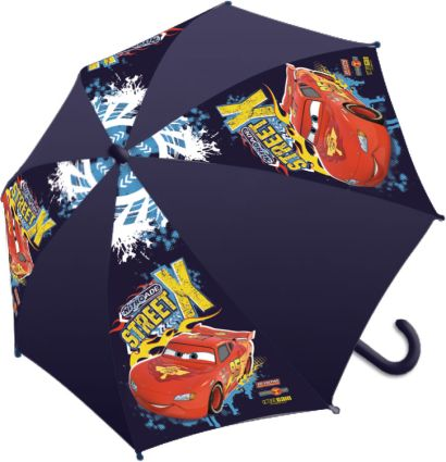 Детский зонт-трость - его форма надежно защитит ребенка в дождливую погоду. Ручка выполнена из пластика, удобна для ребенка. Чтобы зонт не раскрывался - фото 1