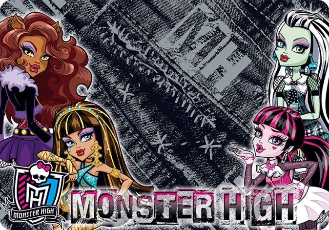 Подкладка на стол д/лепки и рисования А4. Размер: 21 x 30 см. Упак.25шт.Monster High
