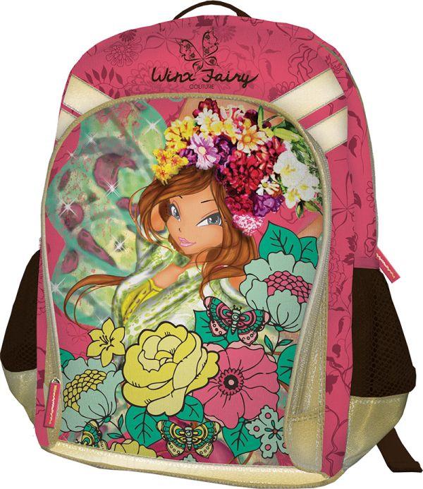 Рюкзак, мягкая спинка с вентиляционной сеткой. Размер 40 х 30 х 13 см Упак. 3//12 шт. Winx Fashion (Winx Fairy Couture)