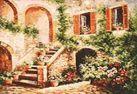 Набор для хобби и творчества Живопись на холсте 40*50 см. Цветущий дворик (133-AB)