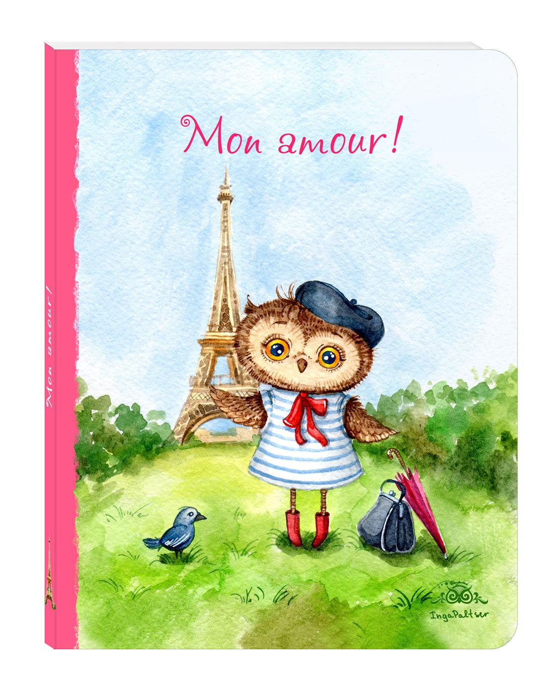 Блокнот. Mon amour (большой) цены онлайн